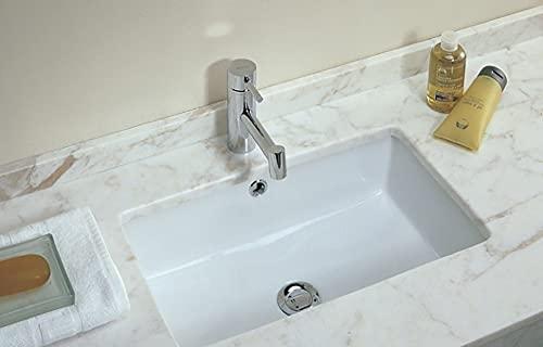Lavabo Bajo Encimera Unisan de Porcelana Blanca Agres de 548x347x172mm. Compatible con Muebles de baño con Fondo a Partir de 46cm.