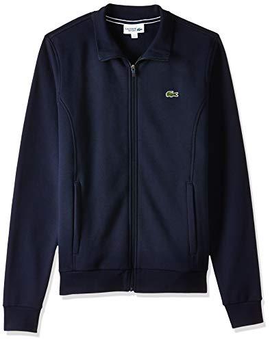 Lacoste Sport Herren SH7616 Reißverschluss Jacke, Blau (Marine), Small (Herstellergröße: 3)