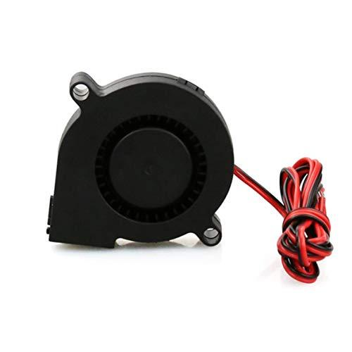 ACEHE 1Pcs Mini Cooling Fan 3D Printer Parts 5015 Radial Turbo Blower Fan Dc 12V Cooling Fan For 3D Printer Cooling Heatsinks