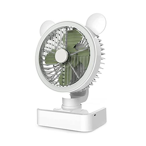 Ventilador de escritorio USB recargable 2400 mAh potente pequeño ventilador portátil mini ventilador de escritorio oscilante para oficina hogar
