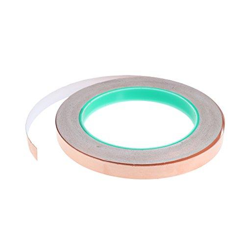 1 Rolle von DIY Klebebänder leitend Kupferfolie Klebeband für elektrische Reparaturen Abschirmung Papier Schaltungen Kunst und Handdwerk - Gold - 10mm