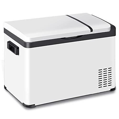 WOLTU Kühlbox Kühltruhe Gefriertruhe Mini Kühlschrank Kompressor Kühlbox elektrisch klein warmhaltebox für essen Kühlbox mit Akku für Auto Wohnmobil Camping Boot 30 L 12V/24V/220-240V KUE011wsz