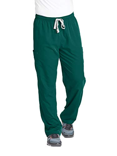 Grey's Anatomy Men's Modern Fit Cargo Scrub Pant, Hunter Green, Large
