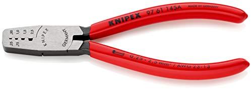 KNIPEX 97 61 145 A Crimpzange für Aderendhülsen mit Kunststoff überzogen 145 mm