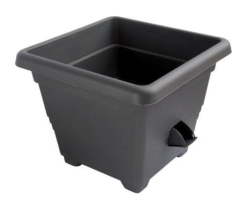 Plastia – Pot à réserve d'Eau Bergamot 25 x 25 cm, Anthracite