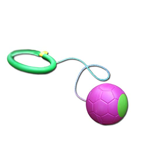 kengb Pelota de tobillo para saltar con un solo pie, juguete divertido para niños, juguete para saltar al aire libre, 1 pieza de color al azar