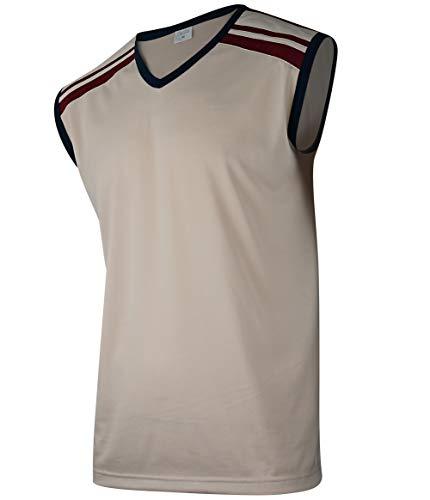 Soltice Herren Tank Top, Ärmellose Sport Shirt, Freizeit und Streetwear, Gym, Fitness, Joggen, Schnelltrocknend (M bis 3XL) (XL, [M2] Beige)