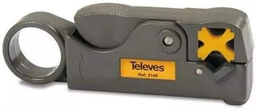 Televes 2145 Pelacables profesional para cable coaxial, Gris y ...