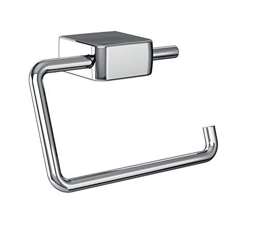 Emco Trend Toilettenpapierhalter, Chrom, Klopapierhalter, ohne Deckel, Rollenhalter, Wandmontage - 20000101, Grau