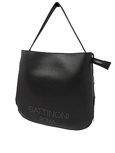 Gattinoni Arisa - Bolsa Hobo de poliuretano negro BENAR7826WVP200 (negro)