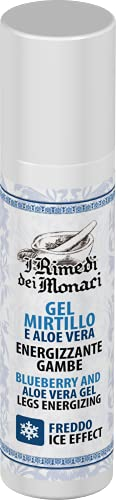 Gel crema gambe effetto freddo, FORMULA POTENZIATA con Mirtillo, Mentolo, menta, Aloe e...