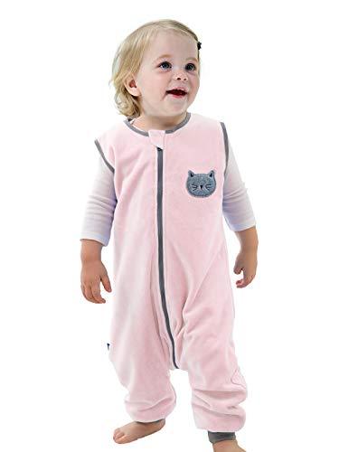 Sincere ililmmoe - Saco de dormir para bebé, para primavera, otoño, cálido, saco de dormir con piernas, manta para bebés de 6 meses a 4 años, Gato, L/3-4T