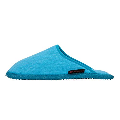 GIESSWEIN Hausschuhe Phoenix - Leichte Sommer-Pantoffeln für Damen & Herren, rutschfeste Pantoletten mit Latex-Sohle, Unisex Cotton-Slippers