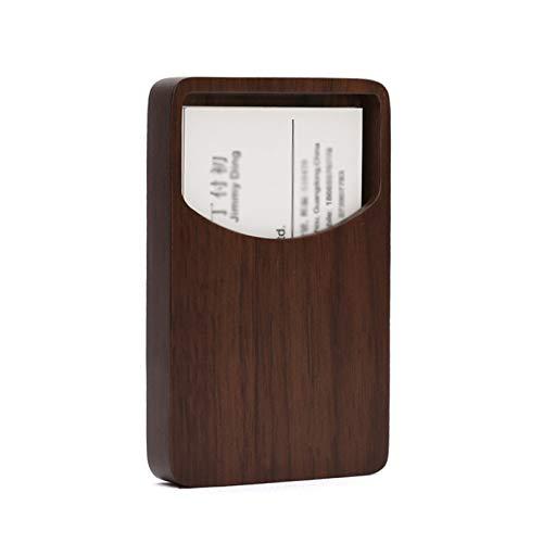 Tarjeteros profesional Titular de la tarjeta de visita creativa Oficina Enterprise Tarjeta de visita Tarjeta de visita Negocio Titular de la tarjeta de visita, Maple / Nuez Tarjeteros de Escritorio