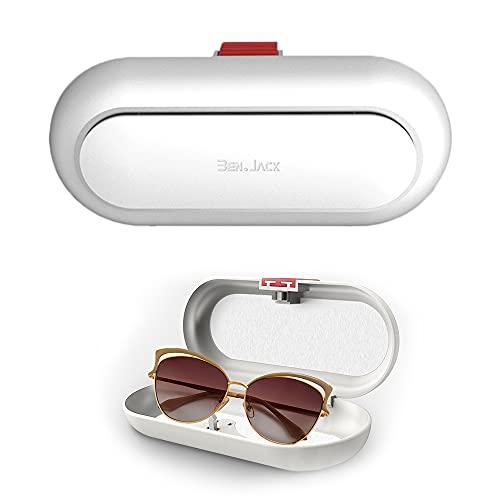 AODOOR Funda para gafas de sol de coche, funda para gafas de sol, soporte para gafas de sol, funda para diferentes coches (blanco)