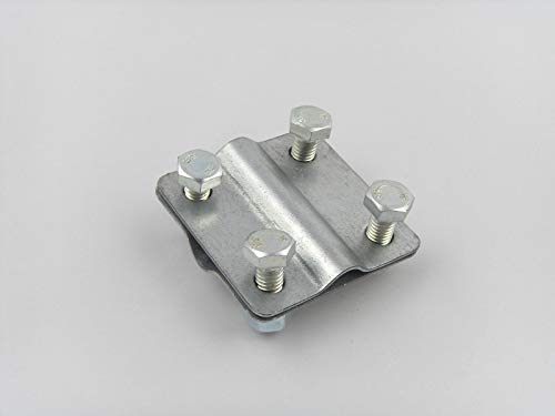 Kreuzverbinder Verzinkt Kreuzklemmen Erdungsband Flachband Erdband Band bis 30mm Draht bis 10mm