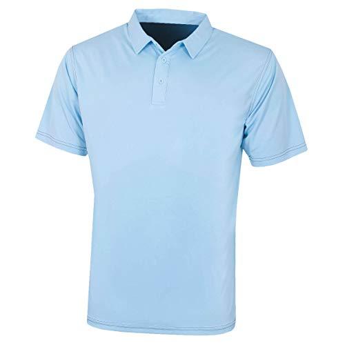 Island Green Polo de Golf pour Homme avec Coutures contrastées, Homme, Haut, IGTS1932_CMYBL_2XL, Bleu Chambray, 2X-L