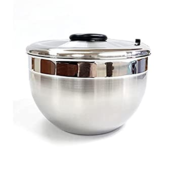 DJDLLZY Salad Spinner Stainless Steel,Drain Lettuce and Vegetable