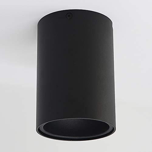 Aufbauleuchte Aufbaustrahler Aufputz SUNNY (rund, schwarz-matt) GU10 Fassung 230V Deckenleuchte Strahler Deckenlampe Würfelleuchte Kronleuchter aus Aluminium Spot - ohne Leuchtmittel
