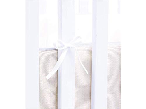 Hoppekids Bettumrandung Seitenschutz Bettnestchen für Wiege, Baumwolle, Sand/weiß, 240 x 1 x 20 cm