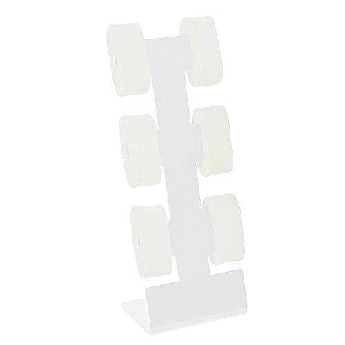 Weiß Acryl Uhrenhalter Uhrendisplay Uhrenständer Uhrenaufsteller für 6 Uhren