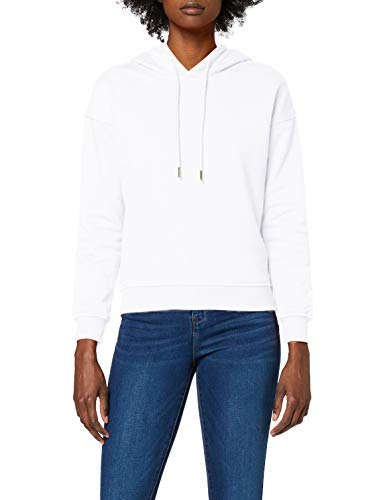 Urban Classics Ladies Hoody Sudadera con Capucha, Blanco (White), S para Mujer