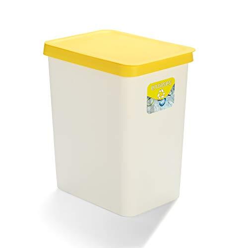 USE FAMILY Recycle. Papelera Envases y plástico 28 Litros (Amarillo)