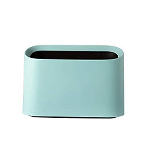 XYW Placement de Sac Poubelle Trash Can - Minimalisme Nordic Bureau Petite Poubelle Salon Bureau des Ménages Poubelle Pratique Et Beau Confort à la Vie (Color : White)