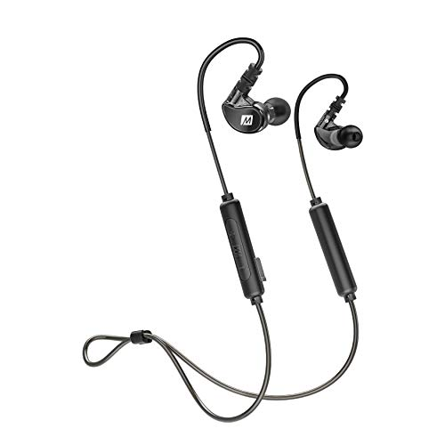 MEE audio X6 Sweatproof Sports Bluetooth Wireless in-Ear Earphones with Headset and Earhooks for Running, Gym, and Workouts (Latest Version)