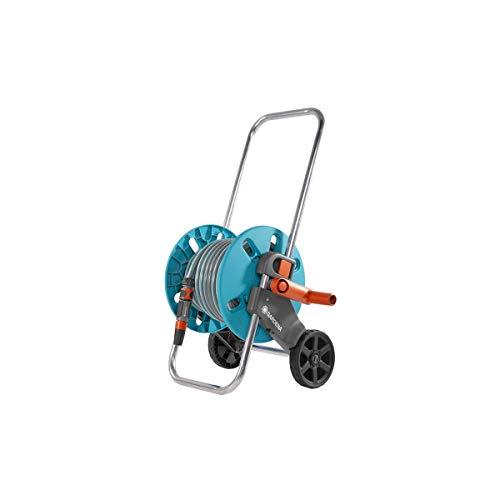 """Carro Aquaroll S (En Caja) Con 20 m de manguera Classic, 13 mm(1/2"""") de piezas Original GARDENA System y Lanza rociadora"""