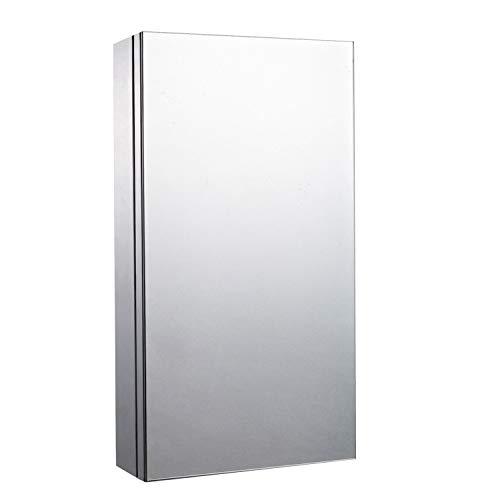 Homcom Badezimmerschrank mit Spiegel, Edelstahl, 300 mm breit