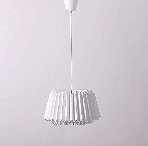 Luz decorativa Lámpara de techo de época, diseño moderno, artesanía de origami, pantalla de lámpara de papel blanco hecha a mano con una línea fácil de colocar, sala comedor, cocina Lampara de pared