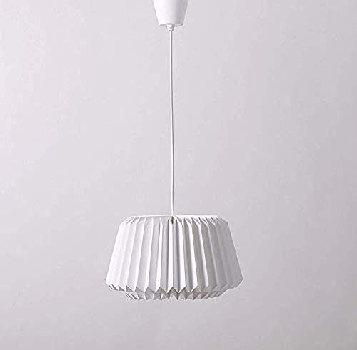 Beleuchtung,wandleuchte Vintage Deckenlampe modernes Design Origami Handwerk handgefertigte weißes Papier Lampenschirm mit Linie leicht zu Wohn-Esszimmer Bett Küche passen Dekoratives Licht