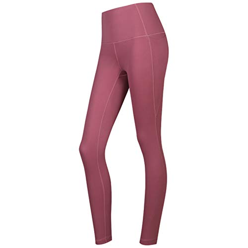 Leggings de cintura alta para mujer Leggings de yoga con bolsillos laterales, pantalones de yoga a prueba de sentadillas para entrenamiento con control de abdomen para entrenamiento atlético
