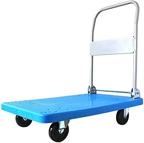 Eortzpc Carretilla de Mano Camiones de Mano Push Push Cart Push Plataforma Plegable for Equipaje Viajes personales Compras Auto Moving y Uso de Oficina,Carro de Mano de Uso múltiple