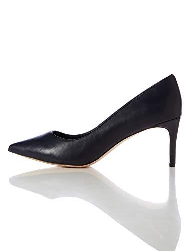 find. Point Mid Heel Leather Court Scarpe con Tacco, Beige), 41 EU