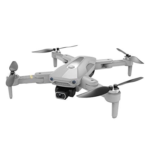 FDSGEWW Pieghevole Brushless Drone HD Telecomando Aereo 5G Flusso Ottico Doppia Lente 8K Elettronico Anti-Shake ESC Long Endurance Quadcopter 7.4V 2200mAh Grigio