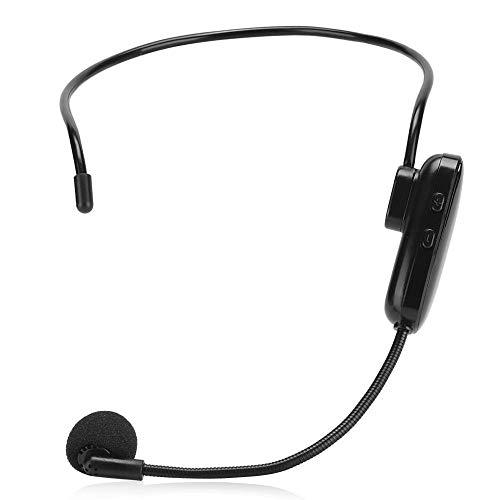 Garsent draadloze microfoon, draadloze FM-headset-microfoon met 15 meter bereik, kop-mount luidspreker voor educatieve vergaderingen, enz.