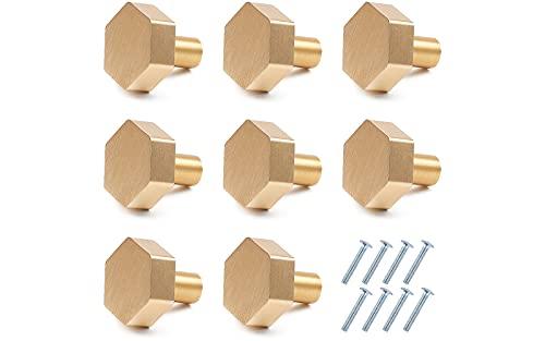 Ruiao 12 pomelli per armadietti da 25 mm, in lega di alluminio massiccio, pomelli per cassetti con viti, per cucina, camera da letto, mobili (dorati)