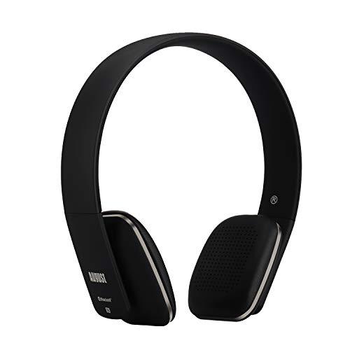 August EP636B - Bluetooth v4.1 NFC Kopfhörer - mit Freisprechfunktion und integriertem 14h Akku - Schwarz