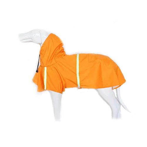 shentaotao Dog Raincoat Freizeit Wasserdicht Leichte Hundemantel Jacke Reflective Regen Jacke mit Kapuze für Pet Dogs XXL orange
