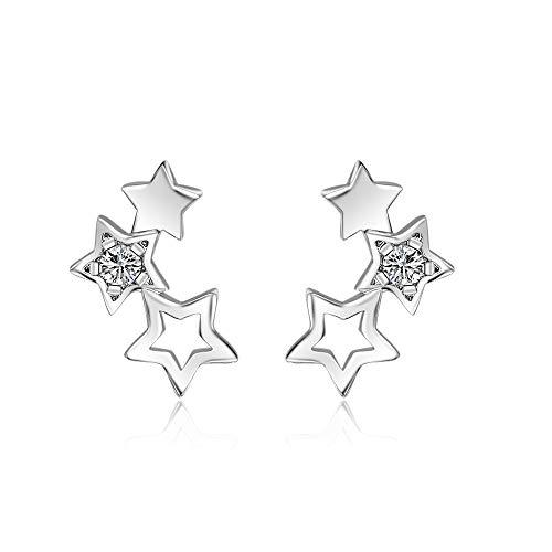 925 sterling silver stjärnformade örhängen kvinnor kubisk zirkonia örhänge smycken