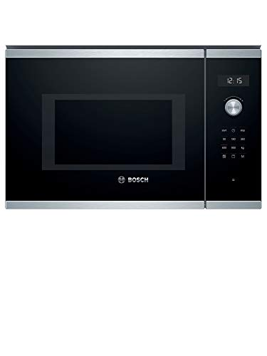 Bosch BEL554MS0 - Microondas integrable Serie 6, 25L, 900W, 1200W, Color negro con acero inoxidable