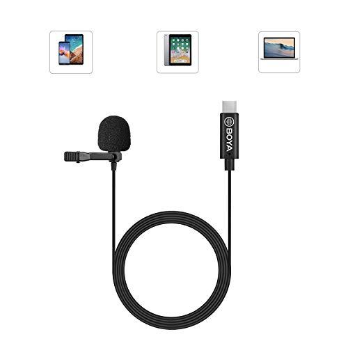Boya by-M3 - Micrófono digital USB tipo C con cable de 20 pies, compatible con iPad Pro, Mac PC, Samsung, LG, Google Nexus, otros smartphones tipo USB-C