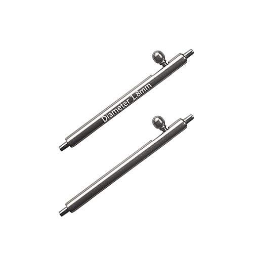 Masar 24mm Ø 1,8mm Premium Quick Release Federstege Armband Schnellspanner Uhrenstifte (2 STK.) 24 mm 1,8 mm