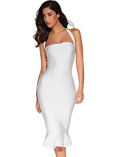 Elegant Halter Style Dress - 1