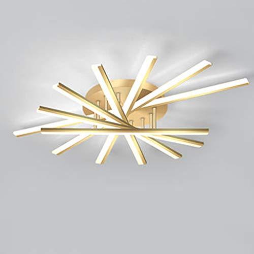 GJBHD Moderno Led Lámpara De Techo Regulable Geométrica Modelado Luminaria De Techo Con Metal Acrílico Pantalla,Lujo Dorado Lámpara De Techo Para Vivir Dormitorio 7 Luces Luz Blanca