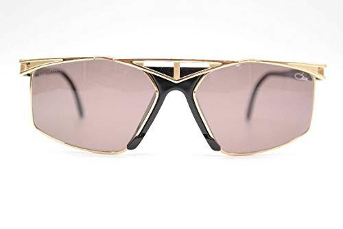 Cazal Col. 619 59 []16 gouden zwart ovaal zonnebril zonnebril nieuw
