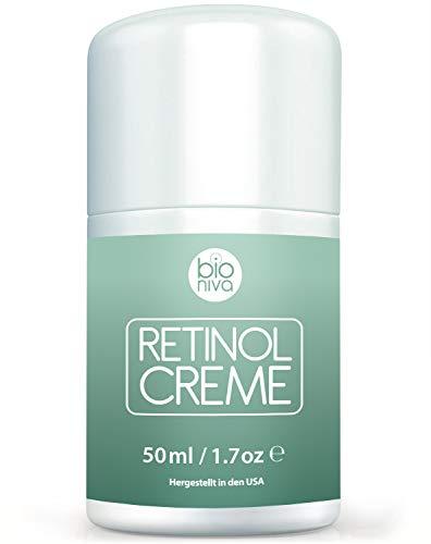 Retinol Lift Creme Testsieger 2019-2.5% Retinol Liposomen Liefersystem mit Vitamin C & Botanische Hyaluronsäure. Natürliche Anti Aging Retinol Feuchtigkeitscreme von Bioniva 50ml