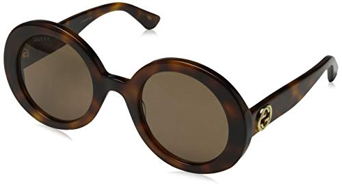 Gucci heren GG0107S 002 zonnebril, (goud/oranje), 56
